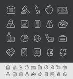 Business & Finance Icons // Black Line Series. Vector icons for your web or printing projects -- EPS 10+ Contain Transparencies Stock Images