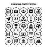 Business and Finance Icons. For web design and application interface, also useful for infographics. Vector illustration Stock Photos