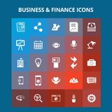Business and Finance Icons. For web design and application interface, also useful for infographics. Vector illustration Stock Image