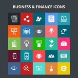 Business and Finance Icons. For web design and application interface, also useful for infographics. Vector illustration Stock Images