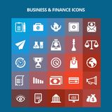 Business and Finance Icons. For web design and application interface, also useful for infographics. Vector illustration Stock Photo