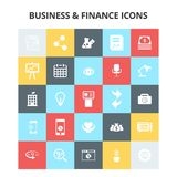 Business and Finance Icons. For web design and application interface, also useful for infographics. Vector illustration Royalty Free Stock Photo