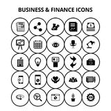 Business and Finance Icons. For web design and application interface, also useful for infographics. Vector illustration Royalty Free Stock Photography