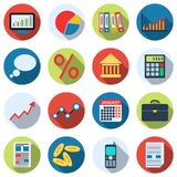 Business and finance icons collection. A set of business and finance flat vector icons Royalty Free Stock Photo