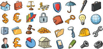 Business and finance icons collection. Vector illustration of business and finance icons collection. Easy-edit layered vector EPS10 file scalable to any size Royalty Free Stock Photos
