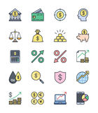 Business Finance icons, Color set - Vector Illustration. An illustration set for your web page, presentation, & design products Royalty Free Stock Photos