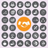 Business and finance icons icon set. Royalty Free Stock Images
