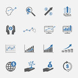 Business and finance icons icon set. Stock Photography