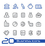 Business & Finance Icons // Line Series. Vector icons set for your web or presentation projects Stock Photos