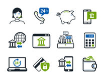 Business and Finance Icons. Online shopping concept Stock Images