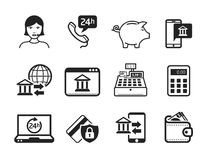 Business and Finance Icons. Online shopping concept Stock Photography