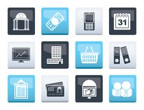Business and finance icons over color background. Vector icon set royalty free illustration