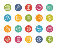 Business and Finance Icons -- Printemps Series Royalty Free Stock Image