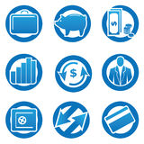 Business and finance icons set. Vector symbols Stock Images