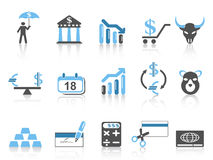 Business and Finance Icons set. Isolated Business and Finance Icons set,blue series on white background Royalty Free Stock Photography