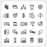 Business and finance icons set Royalty Free Stock Photos