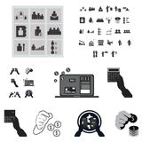 Business and finance icons set.  Royalty Free Stock Photography