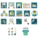 Business and finance icons set.  Stock Images