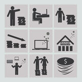 Business and finance icons set.  Stock Image