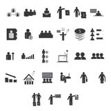 Business and finance icons set.  Royalty Free Stock Photo