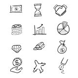 Business finance icons set Royalty Free Stock Image