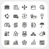 Business and finance icons set Royalty Free Stock Photography