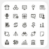 Business and finance icons set Stock Image