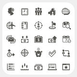 Business and finance icons set Stock Images