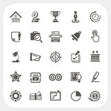 Business and finance icons set Stock Photos