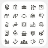 Business and finance icons set. EPS10, Dont use transparency Royalty Free Stock Photography