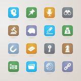 Business and finance icons set. EPS10, This illustration contains transparency Royalty Free Stock Images