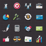 Business and finance icons set. This image is a  illustration Royalty Free Stock Photos