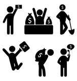 Business finance icons. Set of business finance icons isolated on white Royalty Free Stock Photography