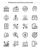 Business Finance icons set, Line Thickness icons Royalty Free Stock Image
