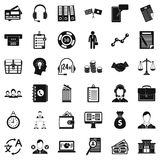 Business and finance icons set, simple style. Business and finance icons set. Simple style of 36 business and finance vector icons for web isolated on white Royalty Free Stock Images