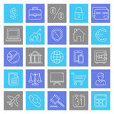 Business and Finance Icons. Set of 25 thin line business and finance icons Royalty Free Stock Image