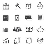 Business Finance Icons set. Vector icons Royalty Free Stock Photo