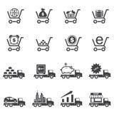 Business Finance Icons set Stock Photo