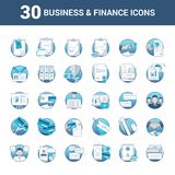 Business and Finance Icons in vector format. Ideal for website and printing stock illustration