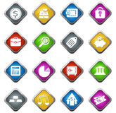 Business and Finance Icons Stock Images