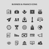 Business and Finance Icons. For web design and application interface, also useful for infographics. Vector illustration Royalty Free Stock Image