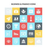 Business and Finance Icons. For web design and application interface, also useful for infographics. Vector illustration Royalty Free Stock Photos