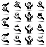 Business and Finance Icons. On a white background. Vector illustration Stock Photo