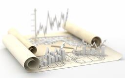 Business finance image. Diagram, chart, graphic stock illustration
