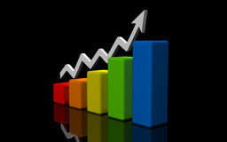 Business finance image. Diagram, chart, graphic Royalty Free Stock Photography