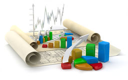Business finance image. Diagram, chart, graphic Stock Photo