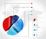 Business finance info graphic illustration Stock Images
