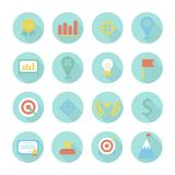 Business and finance infographic design elements. Set of target icons. Illustration in flat style Stock Image