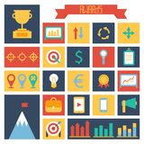 Business and finance infographic design elements. Set of vector target icons. Illustration Royalty Free Stock Photography