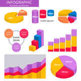 Business and finance infographic icons. Stock Image